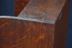 Exposed dovetail construction at top edge.